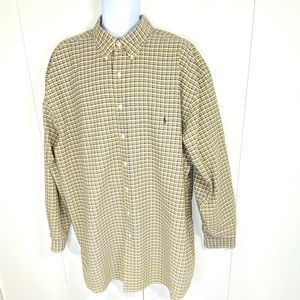 Ralph Lauren 3XL Tall Cotton Plaid Shirt